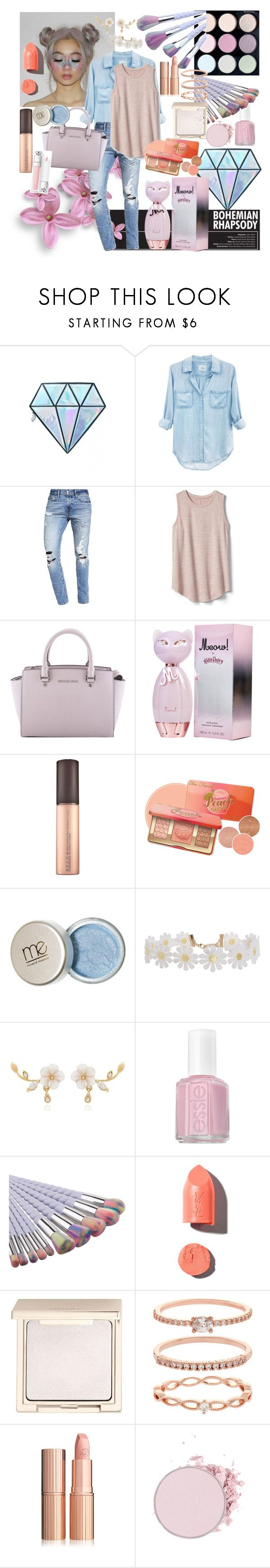 """""""love the pretty colors in spring"""" by rozigurl-rb ❤ liked on Polyvore featuring Unicorn Lashes, Rails, Abercrombie & Fitch, Gap, MICHAEL Michael Kors, Humble Chic, Essie, PUR, Jouer and Accessorize"""