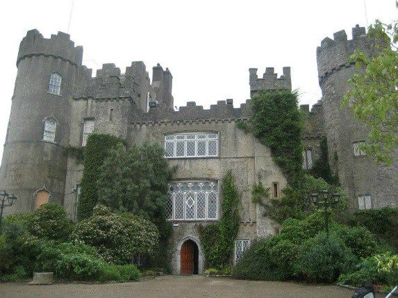 family days out near Dublin: Malahide caslte, with grey walls and stunning green lawns