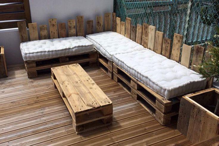 Un salon de jardin douillet meubles en palette 20 - Plan salon de jardin en palette ...