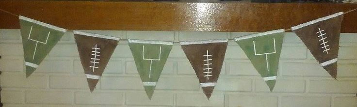 Football Banner - Burlap Banner - Man Cave Decor - Sports Decor by PickadillyGarden on Etsy