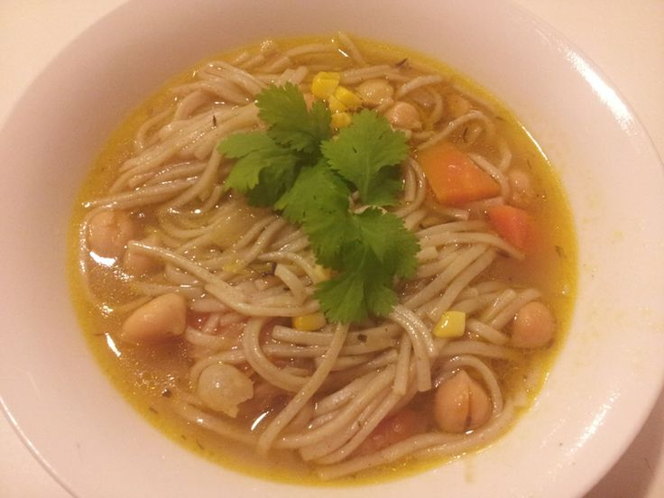Perfect for a winters night. Hearty chickpea noodle soup- a vegan variation on the hearty classic. http://shambhalahouseofyoga.com/blog/2014/6/10/chickpea-noodle-soup