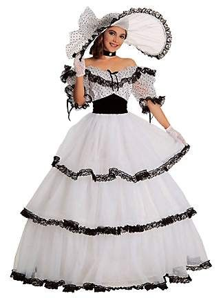 southern belle costumes for teens | ... Costumes > Classic > Womens Black And White Southern Belle Costume