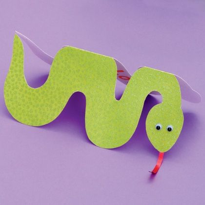 A great idea for a snake card - just in time for Chinese New Year!
