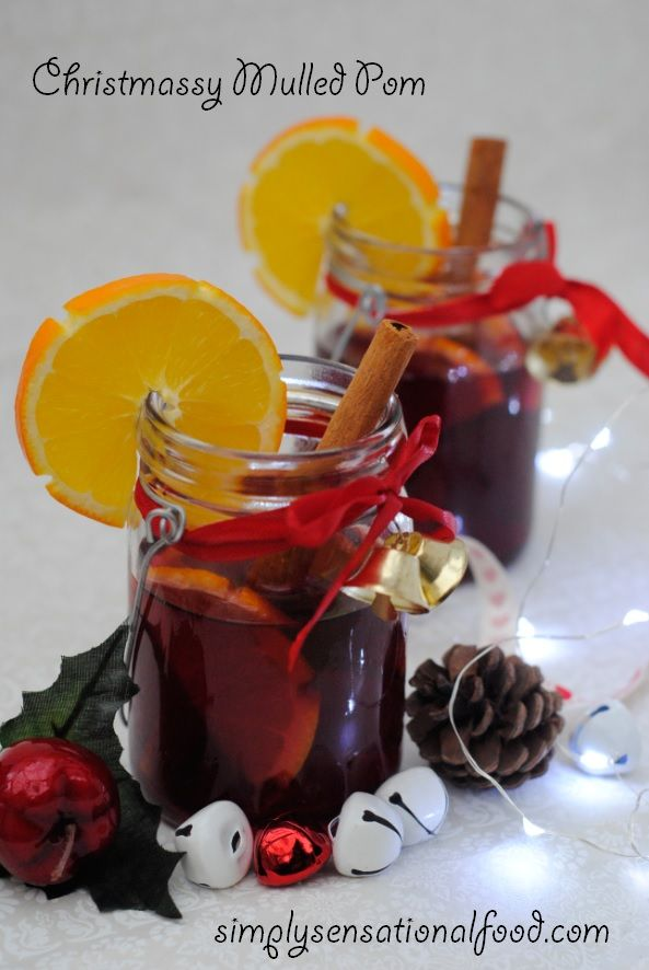 simply.food: Christmassy Mulled Pom http://www.simplysensationalfood.com/2014/12/christmassy-mulled-pom.html