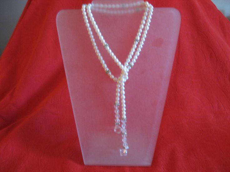 Pearl & crystal lareat scatteredcreations@mweb.co.za