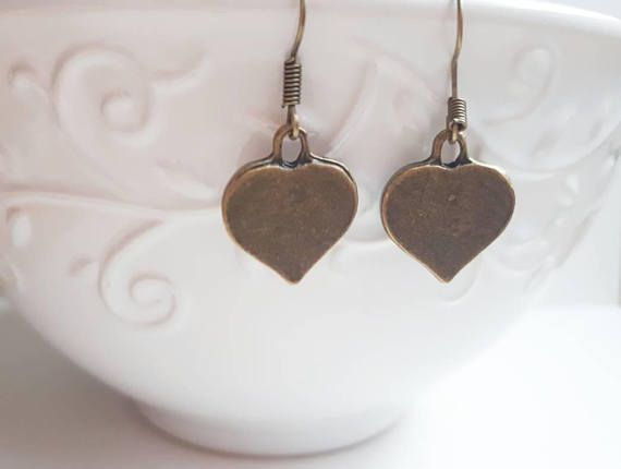 Check out this item in my Etsy shop https://www.etsy.com/ca/listing/562738810/bronze-heart-dangle-earrings