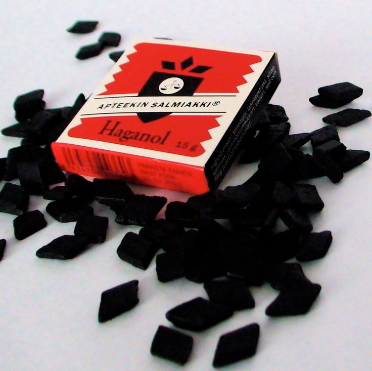 "Salty liquorice, also known as salmiakki or salmiak, is a variety of liquorice flavoured with ammonium chloride, common in Finland. Ammonium chloride gives salty liquorice an astringent, salty taste, which has been described as ""tongue-numbing"" and ""almost-stinging"" - it is an acquired taste. The candies are almost always black or very dark brown and can range from very soft to very hard and brittle. It is also used as a flavouring in products such as ice creams and alcoholic beverages."