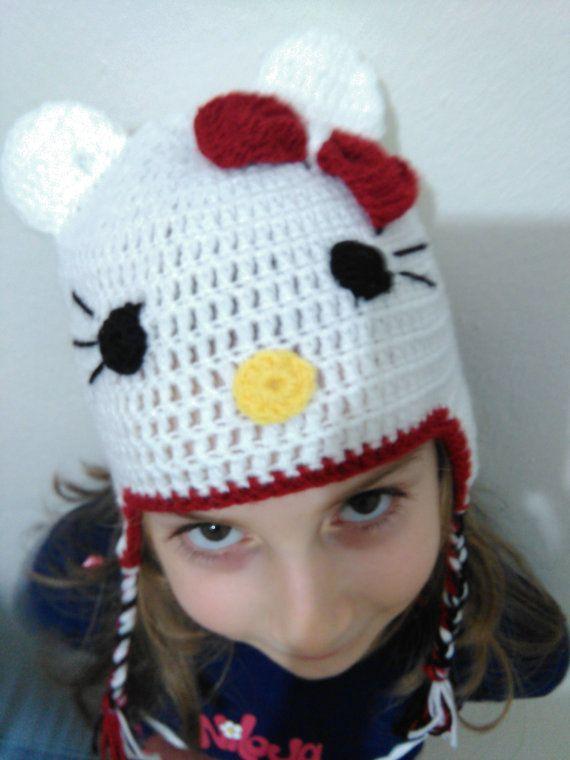 Hello Kitty Figure BeanieChildren Hat Baby Hat Baby by SELINCE