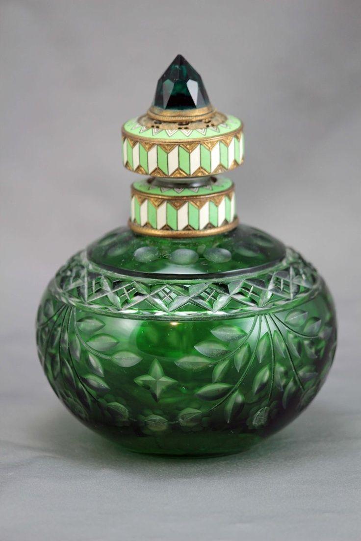 fawnvelveteen:  Austrian Art Deco Jeweled and enameled Perfume Bottle