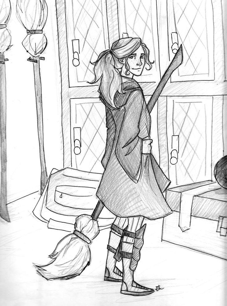 potter harry ginny weasley drawing easy drawings snitch gryffindor draw stuff quidditch hogwarts fanart deviantart getdrawings