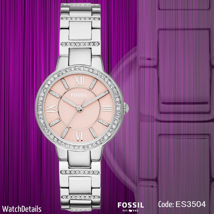 Check out Beautiful woman watches Virginia Three-Hand ES3504 http://goo.gl/GaEA9p #Women #watches #Fossil #shopping #fashion