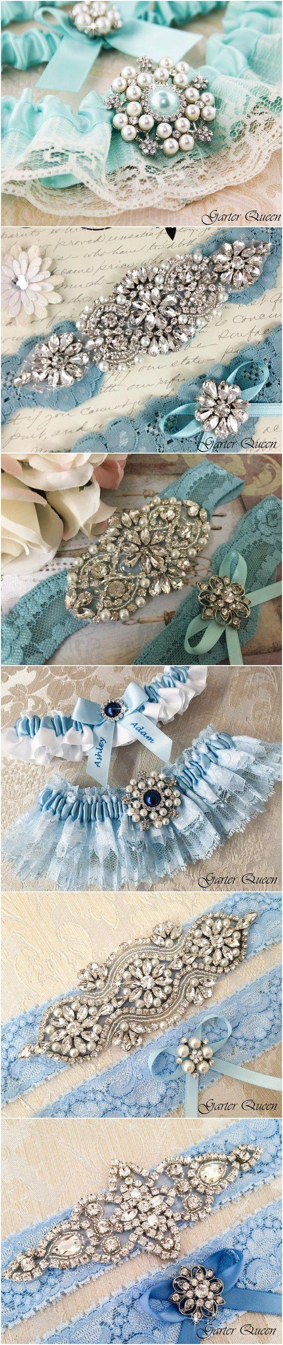 Vintage Blue lace wedding garter sets / http://www.deerpearlflowers.com/wedding-garters-sets-from-etsy/3/