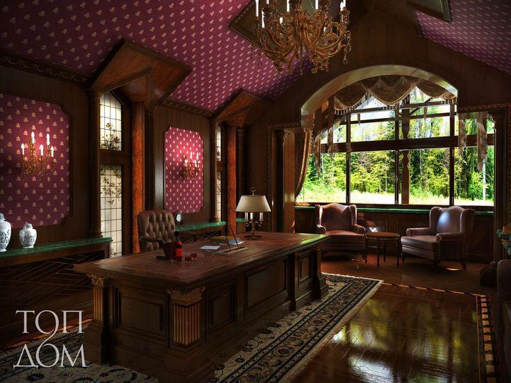 Оформить рабочий кабинет в английском стиле – это первое, что может прийти на ум, когда речь заходит об оформлении  интерьера в данной комнате