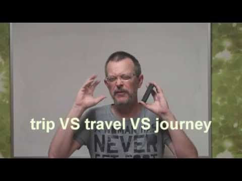 Learn English: Daily Easy English Expression 0201: trip VS travel VS journey - YouTube