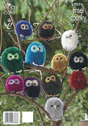 King Cole Tinsel Chunky  Dollymix DK Knitting Pattern Owl Animal Family 9022 * You can get more details by clicking on the image. (This is an affiliate link and I receive a commission for the sales)
