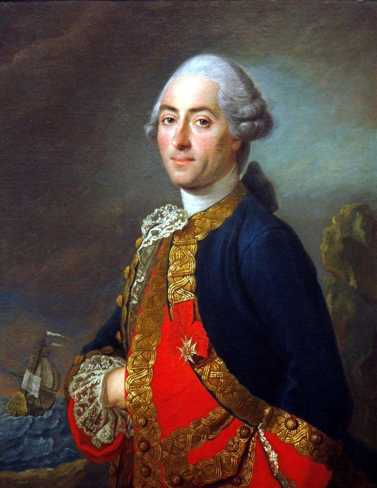 Uniforme de Capitaine de frégate (1738). Comte Louis-Philippe de Rigaud de Vaudreuil.
