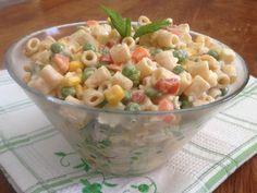 Μακαρονοσαλάτα με λαχανικά και cheddar (τσένταρ)