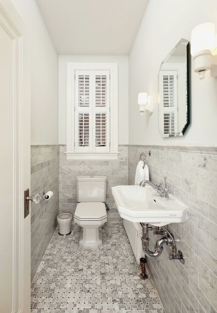 small narrow bathroom ideas. Small Narrow Half Bathroom Ideas - Photo#5