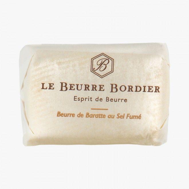 Beurre de baratte au Sel Fumé Le Beurre Bordier : Beurres et crèmes France - La Grande Epicerie de Paris