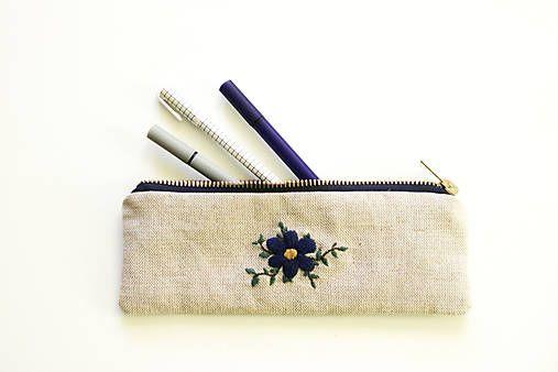 silvART / Modrý (s kvetom)