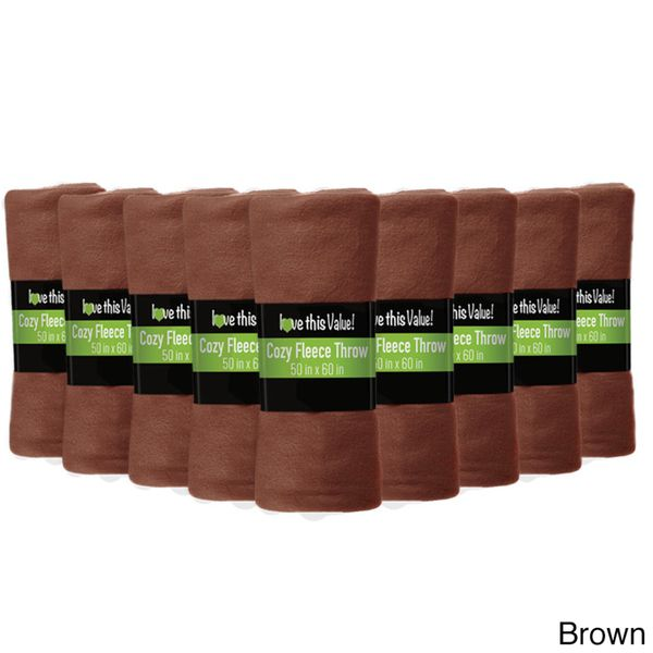 Soft Wholesale Fleece Blankets- 24 Pack Assorted Fleece Throw Lot (50 x 60)
