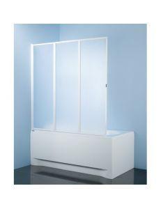 Шторка для ванны 140*140 Sanplast KW-3-c,белый, стекло пластик