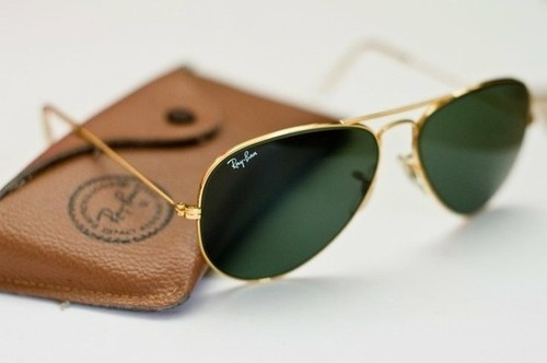 gold ray bans. So classic