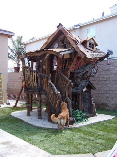 @Kimberly Barton > This is cool. The kid's get their first house! Does this mean that the parents are off the hook for coming up with the down payment for their first adult house? Kid's playhouse custom designed by Daniels Woodland.