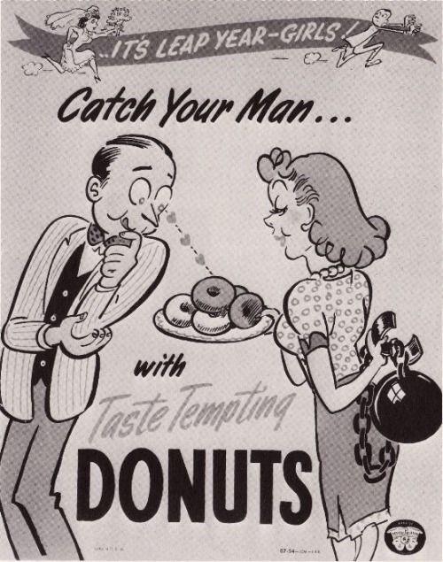 Por el precio de sus donuts,Krispy Kreme incluye el marido. ¡Y los gil, ahí!