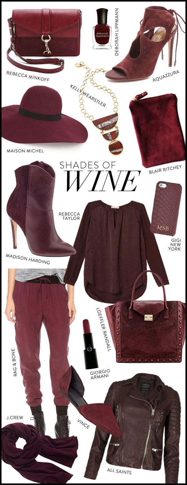 Wine is a color of Fall. Check out our Fall GLOSSYBOX here: http://www.glossybox.com/