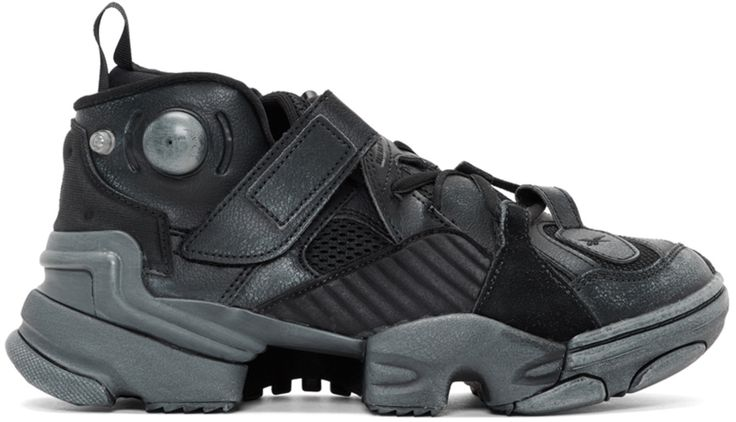 Vetements Black Reebok Edition Genetically Modified Pump High-Top Sneakers