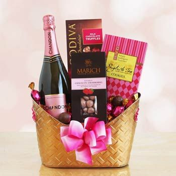 Romantic Wine Gift Basket. See more gifts at www.pro-gift-baskets.com!