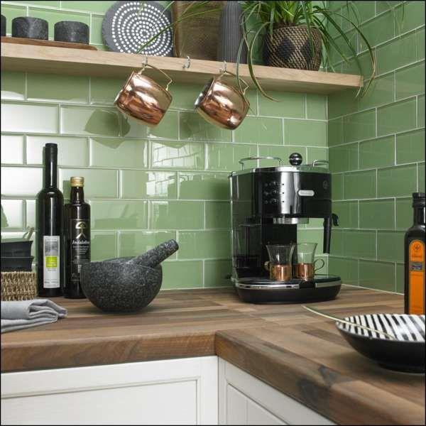 Green Brick Kitchen Tiles Green Kitchen Walls Brick Tiles Kitchen Sage Green Kitchen Walls