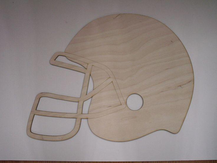 Football Helmet,Laser Cutouts,Unfinished Wood,Home Decor,Wall Art,Sports Decor