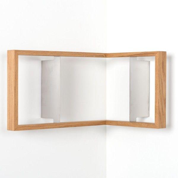 Rohová polica na knihy das kleine b b2, výška 25 cm