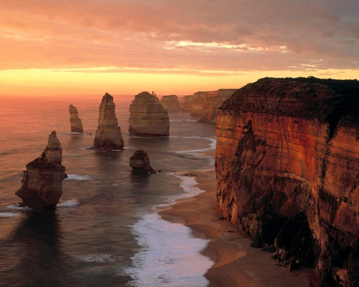 The 12 Apostles.  Unfortunately, there are only 10.  I think.  :(  But an awesome place and 1 of the top 3 most beautiful drives in the world that I've done with my one and only.