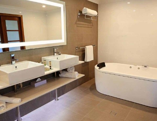 Rectangle Backlit Bathroom Mirror with border