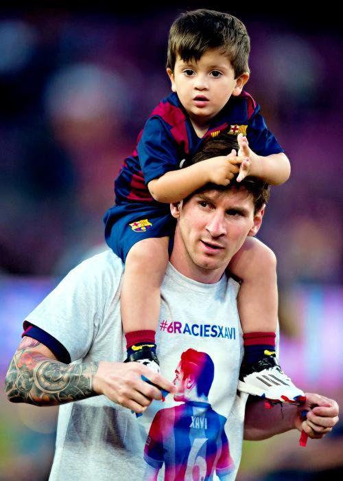 Lionel Messi & son
