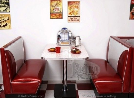 Your Kitchen Needs A Retro Diner Booth Waiting Area