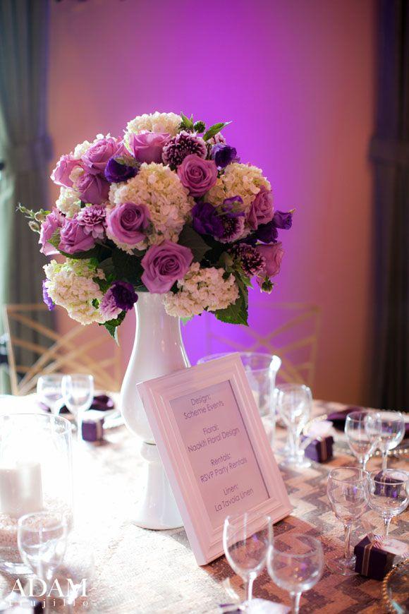 Best ideas about purple flower centerpieces on