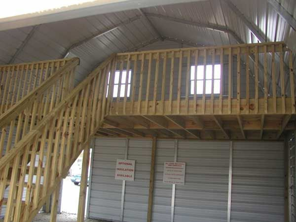 Metal building loft new garage barn pinterest for Barn house plans with loft