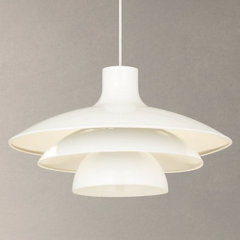 Buy House By John Lewis Harvey Pendant Light White Online At Johnlewis