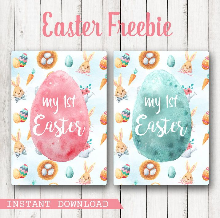 My First Easter Baby Milestone Card (10 pence) instant download - USE CODE EASTER2017 by CraftGeekDesigns on Etsy