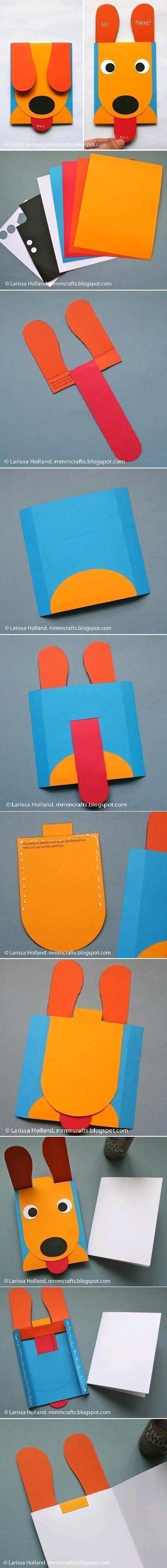 DIY Puppy Fun Card DIY Projects / UsefulDIY.com on imgfave
