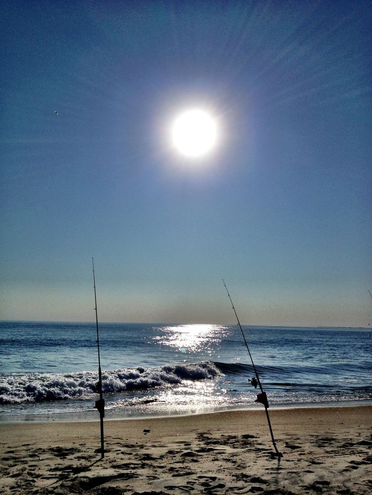 Surf fishing at The Point
