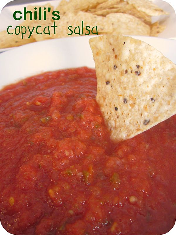 I love Chili's salsa! Six Sisters' Stuff: Chili's Copycat Salsa Recipe
