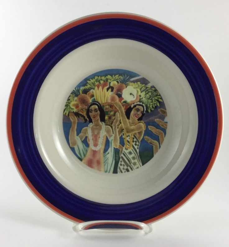 RARE Homer Laughlin Lynn Krantz Hawaiiana Ware by Eugene Savage Soup/Salad Bowl #HomerLaughlinLynnKrantzDishBooks