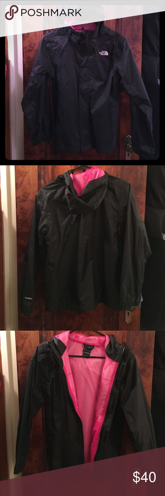 Girls north face rain coat Super cute rain jacket. Girls large, but fits like a women's xs as long as your arms aren't super long. New without tags, never worn. The North Face Jackets & Coats