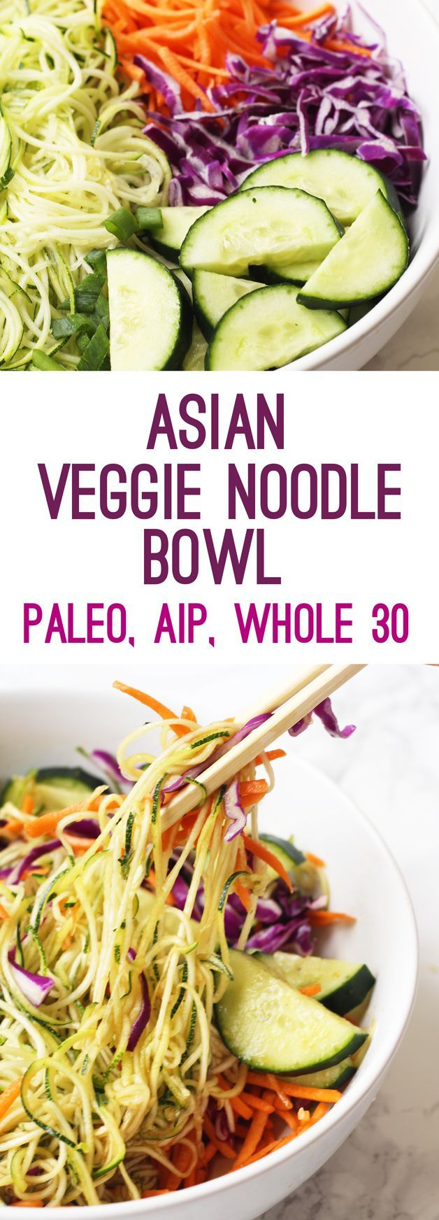 Recently, I was looking back in my TimeHop app (which shows you throwbacks in your social media trail online) and I came across one of my earlier real food recipes… a veggie Asian noodle bowl. This was back in the day when I was still gluten-full, pretty much refused to eat any protein other than …