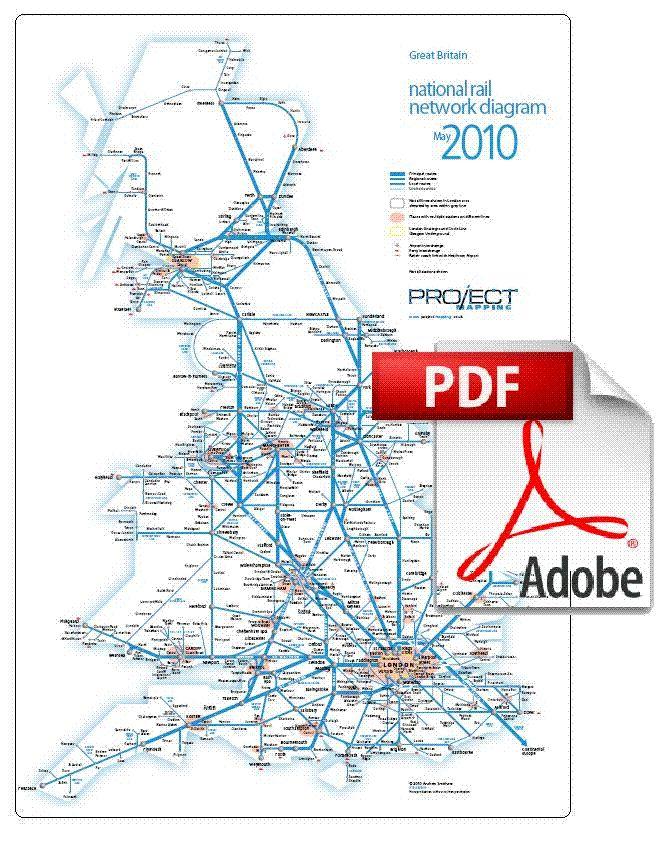Traveling Outside Of London National Rail Map Of The National Rail - Portugal rail map pdf